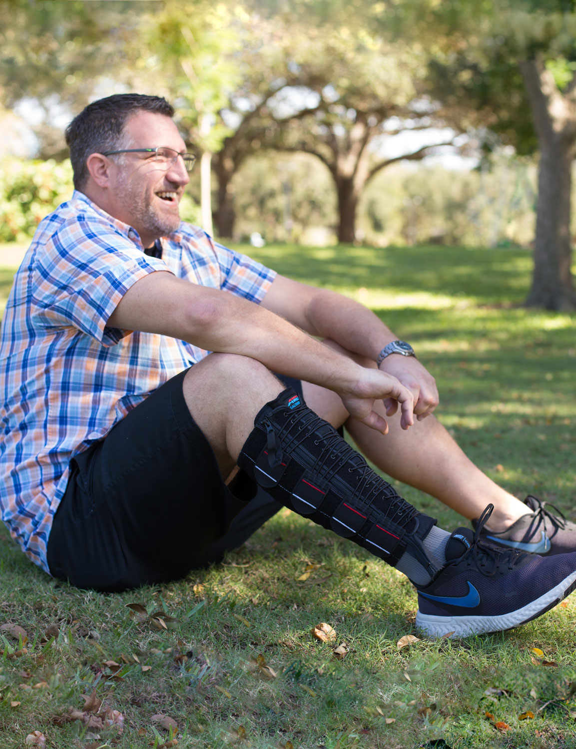 EXTREMIT-EASE Compression Garment on man in a park