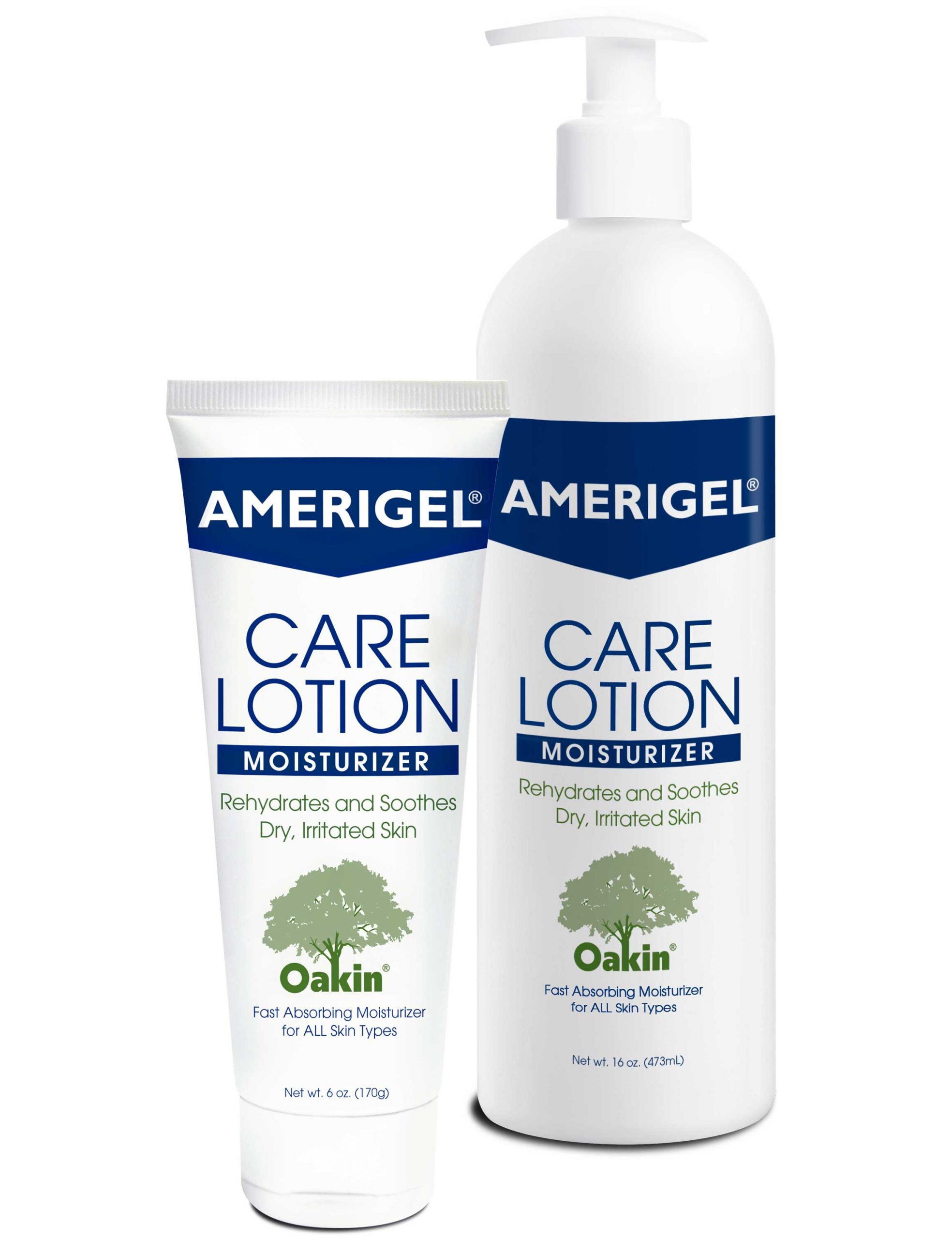 6 oz. tube and 16 oz. pump bottle of AMERIGEL Care Lotion
