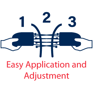 Icon showing easy application and adjustment - Easy Application and Adjustment Icon